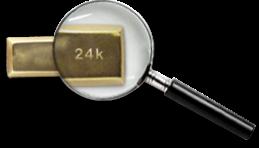 4. Guldet värderas noggrant